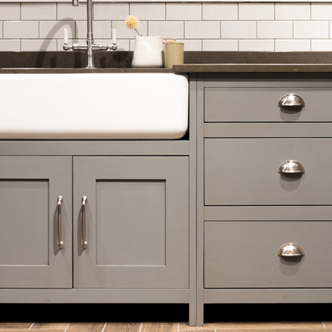 kitchen cabinetry, gray kitchen cabinets, farmhouse kitchen sink, kitchen cabinet showroom, cabinet showroom