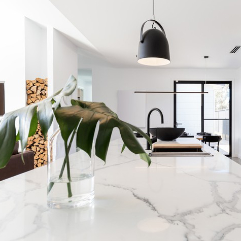 white kitchen countertop, white kitchen counter, modern kitchen