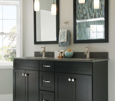 Black Double Sink Vanity, Bathroom Vanity, Double Vanities, Black Bathroom Vanity, Bathroom Cabinets, Cabinetry