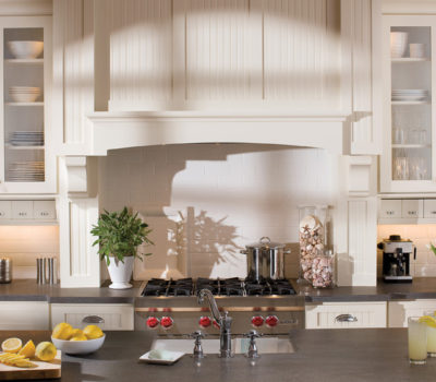 DuraSupreme Kitchen Cabinetry, Kitchen Mantel Hood, Maple Kitchen Cabinets, Custom Kitchen Cabinetry