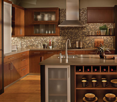 Kitchen With Dark Cabinets And Modern Appliances, DuraSupreme Kitchen Cabinetry, Neutral Kitchen Design