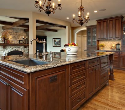 Kitchen Remodel With A Large Kitchen Island And Beautiful Traditional Styled Cabinets By Dura Supreme Cabinetry