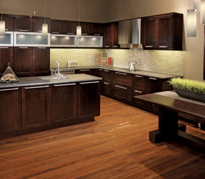 Kitchen With Dark Oak Cabinets, Oak Cabinetry, Oak Kitchen Cabinetry, Cabinet Showroom Western MA