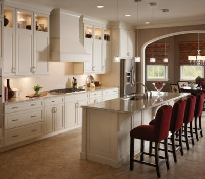 Kitchen With Large Center Island And Light-colored Cabinetry, Modern Kitchen Design, Kitchen Remodel
