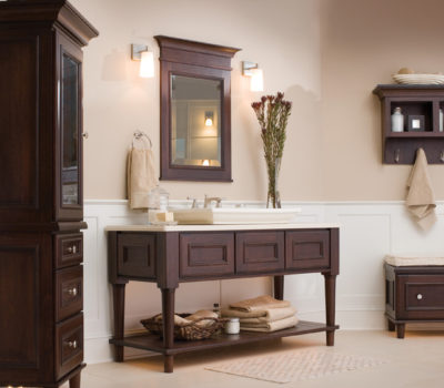 Dura Supreme Crestwood Cabinetry Shown With St. Augustine Cabinet Door Style.