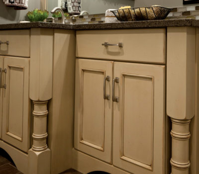 Dura Supreme Bathroom Vanities Shown With The Chapel Hill Panel Cabinet Door Style In Maple With A Custom Painted Finish.