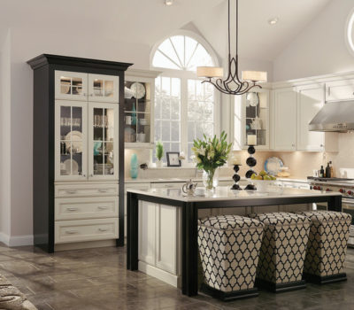 Elegant Kitchen, Black And White Kitchen, Kraftmaid Kitchen Cabinets, Kraftmaid Distributor MA
